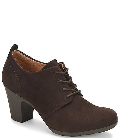 Comfortiva Neacy Waterproof Suede Lace-Up Oxfords