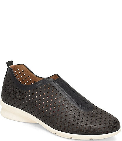 Comfortiva Perlace Perforated Leather Slip On Sneakers