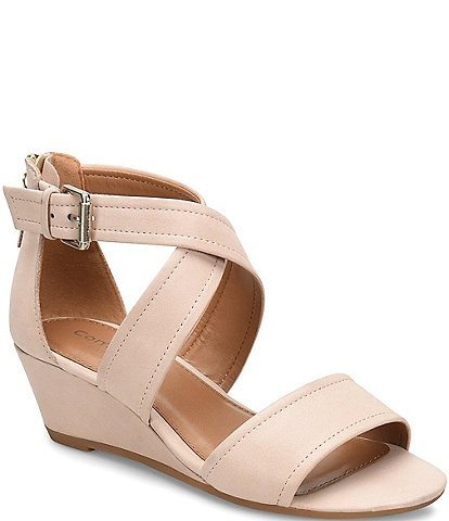 Comfortiva Rabea Leather Wrapped Wedges