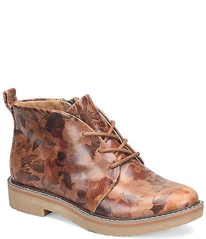 Comfortiva Rebeca Floral Print Leather Booties
