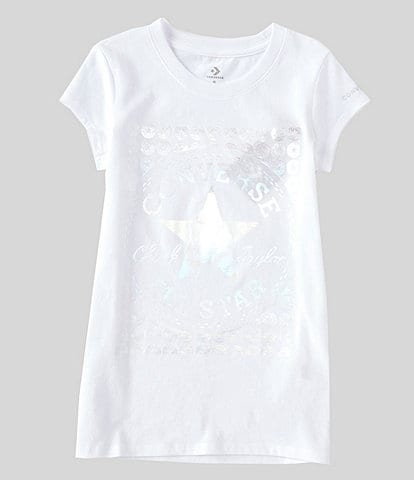 Converse Big Girls 7-16 Short-Sleeve Foil Chuck Patch Graphic Tee