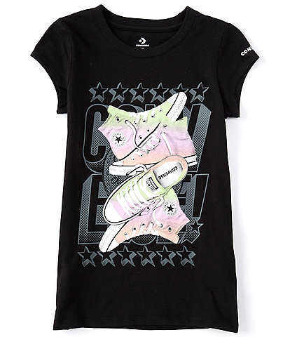 Converse Big Girls 7-16 Short-Sleeve Glossy Girl Shoe Stack Tee
