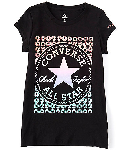 Converse Big Girls 7-16 Short-Sleeve Gradient Chuck Patch Graphic Tee