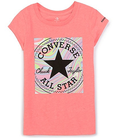 Converse Big Girls 7-16 Short-Sleeve Marble Chuck Patch Logo Tee