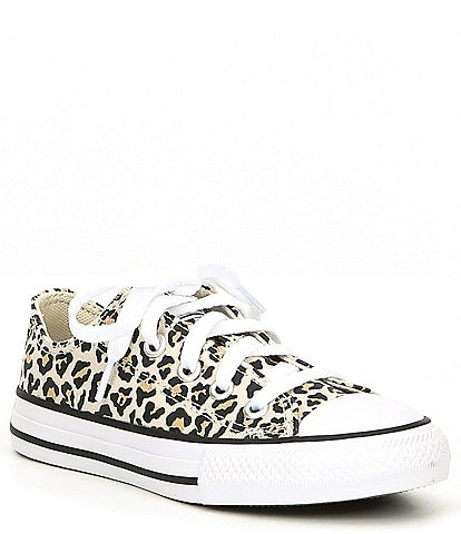 Converse Girls' Chuck Taylor All Star Leopard Print Sneaker Youth