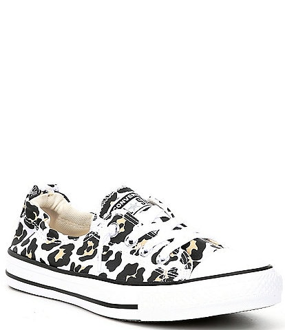Converse Women's Chuck Taylor All Star Shoreline Leopard Print Canvas Sneakers