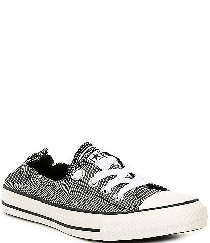 Converse Women's Chuck Taylor All Star Shoreline Striped Slip On Canvas Sneakers