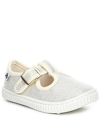 Copper Key Adventure Wear Girl's Bestee-A Washable Canvas T-Strap Sneakers (Infant)