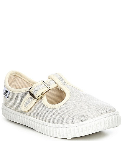 Copper Key Adventure Wear Girl's Bestee-A Washable Canvas T-Strap Sneakers (Toddler)