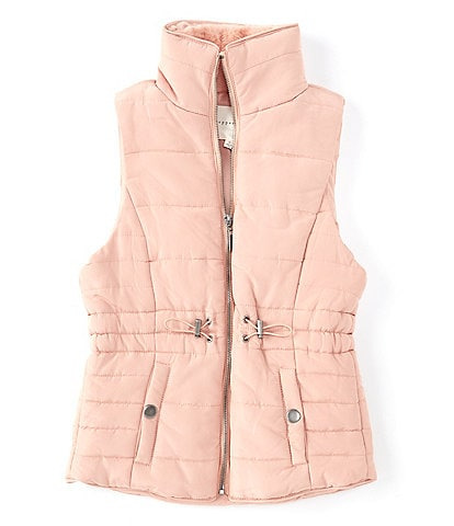 Copper Key Big Girls 7-16 Nylon Faux-Fur Quilted Puffer Vest