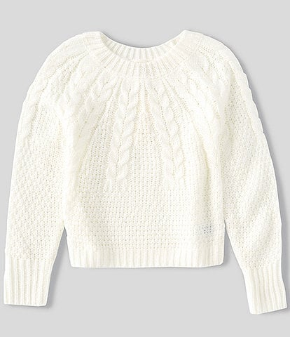 Copper Key Big Girls 7-16 Cable Sweater
