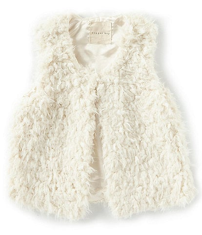 Copper Key Big Girls 7-16 Cozy Teddy Faux Fur Vest