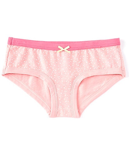 Copper Key Big Girls 7-16 Dotted Hipster Bow Panties