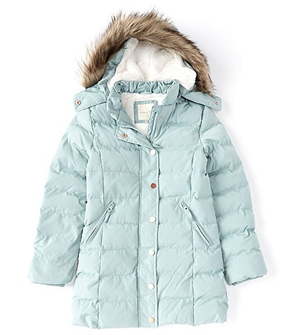Copper Key Big Girls 7-16 Faux-Fur Trim Puffer Coat