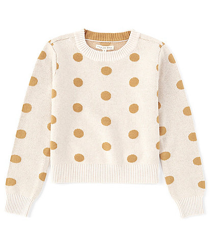 Copper Key Big Girls 7-16 Ivory with Rust Dot Sweater