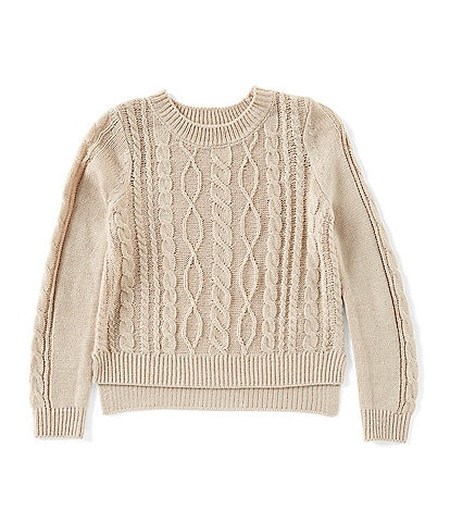 Copper Key Big Girls 7-16 Long Sleeve Cable-Knit Sweater