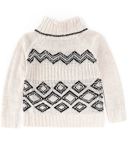 Copper Key Big Girls 7-16 Long-Sleeve Jacquard Cowl Neck Sweater