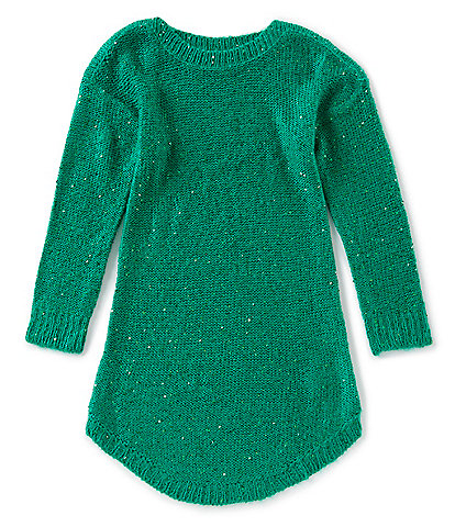 Copper Key Big Girls 7-16 Long Sleeve Sequin Tunic Sweater