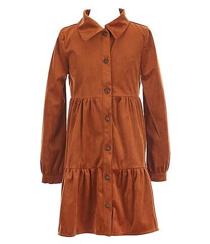 Copper Key Big Girls 7-16 Long Sleeve Teired Dress