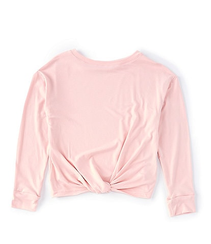 Copper Key Big Girls 7-16 Long-Sleeve Yummy Knot-Front Top
