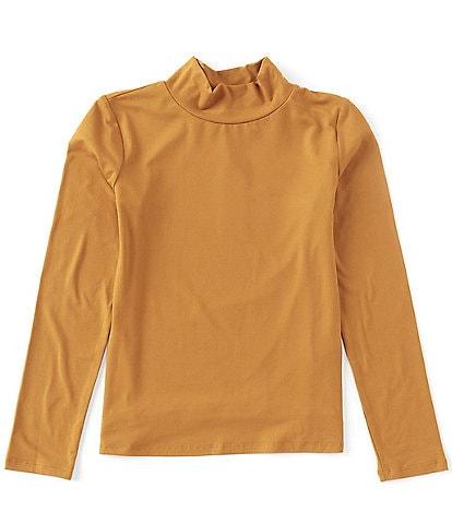Copper Key Big Girls 7-16 Mock Neck Long Sleeve Top