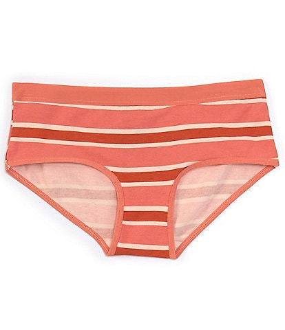 Copper Key Big Girls 7-16 Rugby Striped Hipster Panties