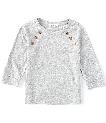 Copper Key Big Girls 7-16 Side Button Sweater