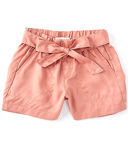 Copper Key Big Girls 7-16 Tie Front Shorts