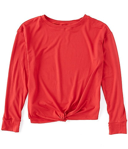 Copper Key Big Girls 7-16 Yummy Knot Front Top