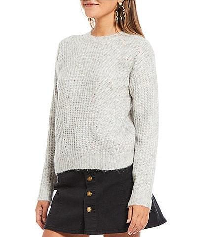 Copper Key Braid Stitch Sweater