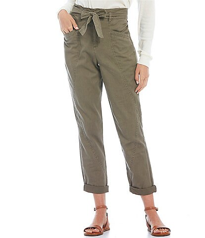 Copper Key High Rise Rolled Cuff Utility Pants