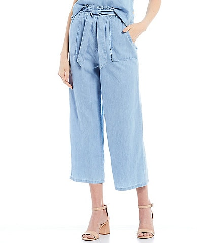Copper Key Chambray Paperbag Waist Pants