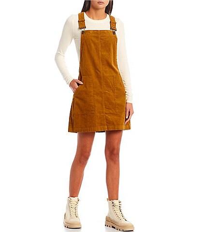 Copper Key Corduroy Pinafore Mini Dress