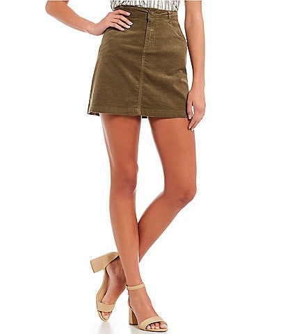 Copper Key Corduroy Mini Skirt