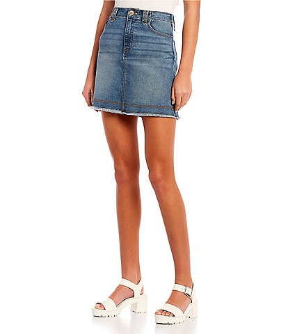 Copper Key Denim Mini Skirt