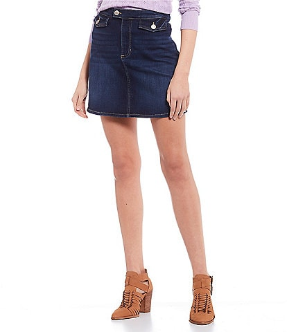 Copper Key Denim Skirt