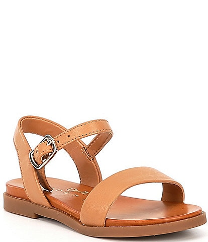 Copper Key Girls' Clevver Leather Two-Piece Flat Sandals Infant