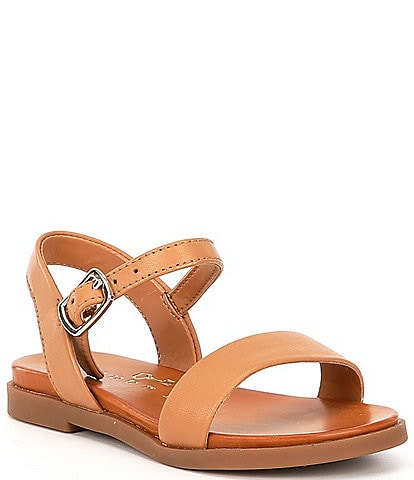 Copper Key Girls' Clevver Leather Two-Piece Flat Sandals Toddler