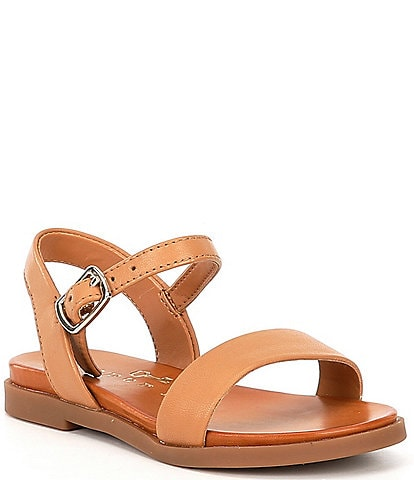 Copper Key Girls' Clevver Leather Two-Piece Flat Sandals Youth