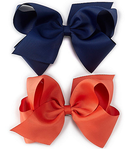 Copper Key Girls Grosgrain King Bows 2-Pack