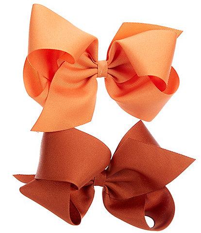 Copper Key Girls Grosgrain King Bows 2-Pack