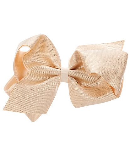 Copper Key Girls Iridescent Taffeta Pinch Clip King Bow