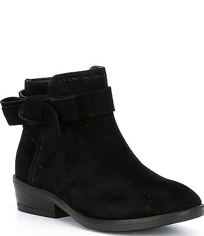 Copper Key Girls' Lovelyy Side Bow Suede Booties Youth