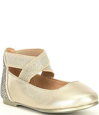 Copper Key Girls' Loviee Leather Ballet Flats Infant