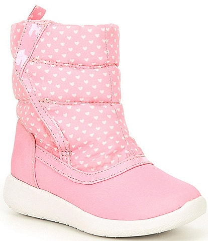 Copper Key Girls' Spunkie Quilted Micro-Heart Snow Boots (Youth)