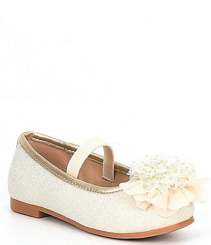 Copper Key Girls' Surely-T Glitter Ballet Flats (Infant)