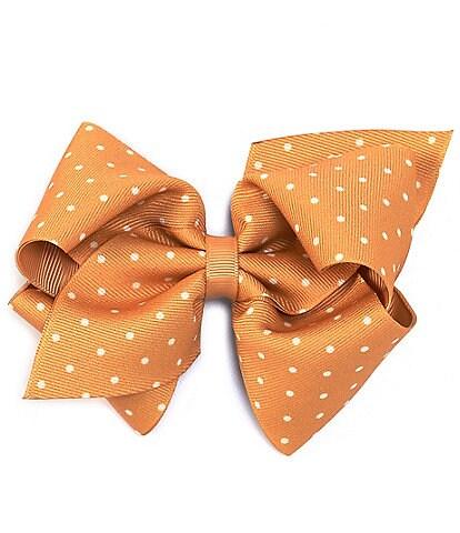 Copper Key Girls Tiny Dot Print Mini-King Bow