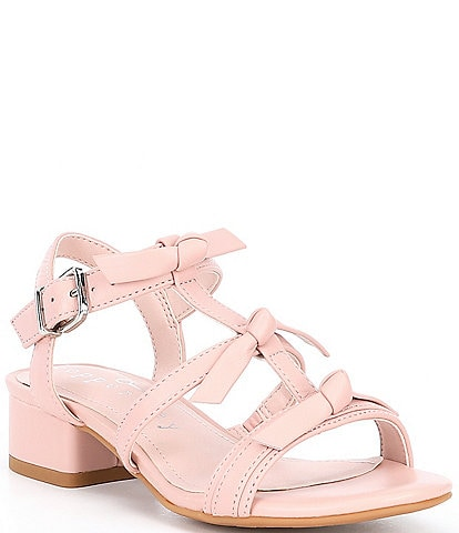 Copper Key Girls' Toodlez Three Bow Leather Dress Sandals Youth