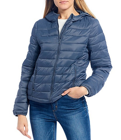 Copper Key Light Weight Zip Front Puffer Coat