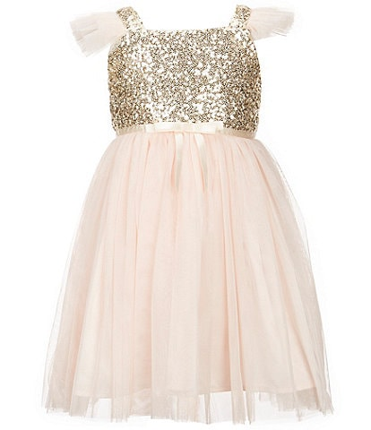 Popatu Little Girls 2-8 Sequin Tulle Dress